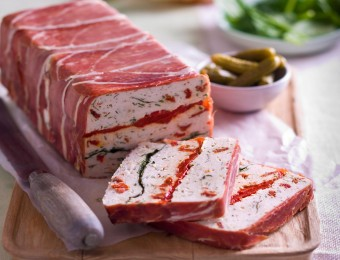 Chicken, Roasted Peppers and Sun Dried Tomatoes Terrine