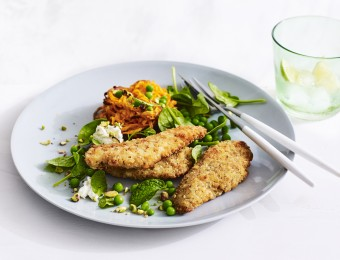 Chicken Breast Strips with Sweet Potato Rosti