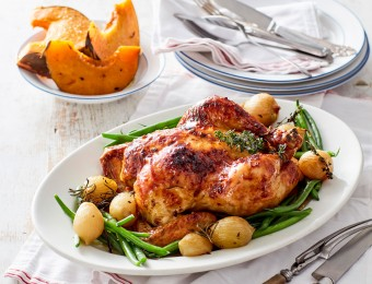 Maple Glazed Roast Chicken