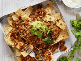 Chicken and Mushroom Nachos