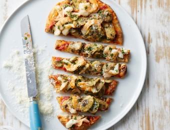 Prawn and Mushroom Pizza Bread Fingers