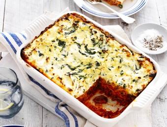 Spinach, Ricotta and Mushroom Lasagne Recipe