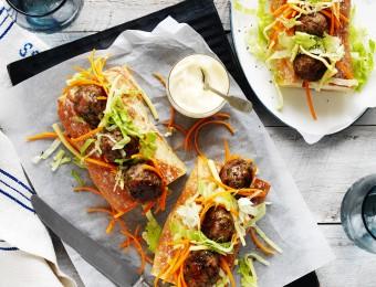 Mushroom Meatball Subs Recipe