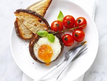 Portabella Mushroom Baked Egg