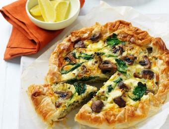 One-pan Mushroom and Leek Filo Pie