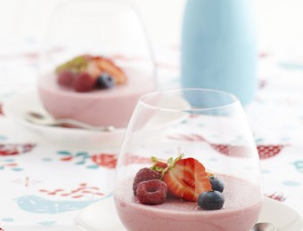 Berry Mousse With Glazed Berries