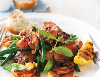 Barbecue Mushroom & Lamb Salad