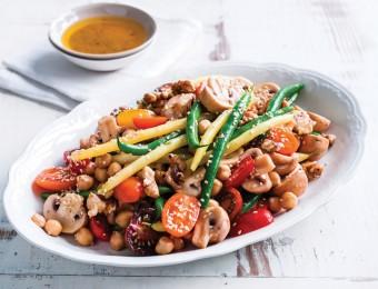 Mushroom, Chickpea & Toasted Walnut Salad