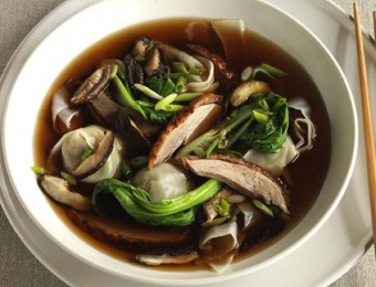 Roast duck and wonton soup