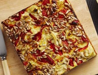 Zucchini, Capsicum and Artichoke Rice Slice