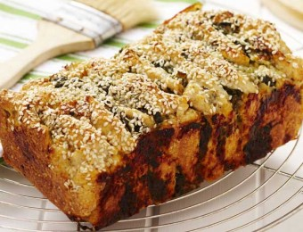 Cheese and Spinach Pull Apart Loaf