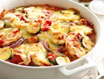 Cheesy Layered Vegetable Bake