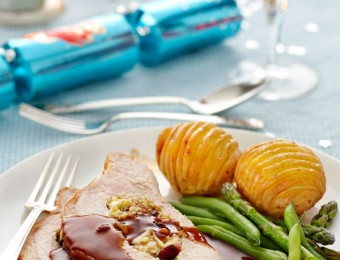 Turkey Breast with Cranberry and Leek Stuffing Christmas recipe