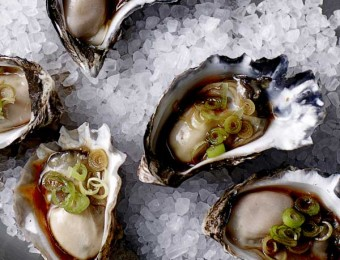 Oysters with a Lemongrass and Sesame Soy Dressing