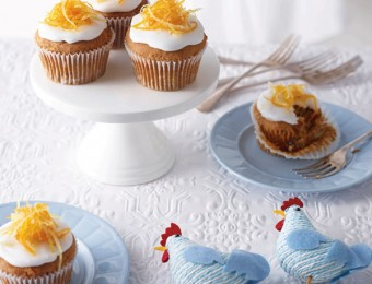 Gluten Free Ginger & Carrot Easter Cupcakes
