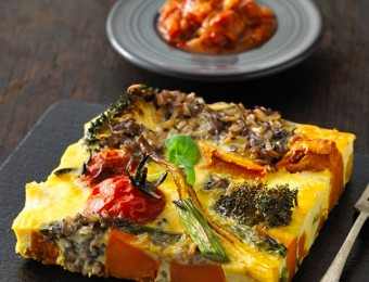 Roasted Vegetable & Rice Frittata