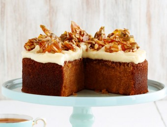 Butternut Pumpkin Spice Cake with Sunflower Almond Toffee