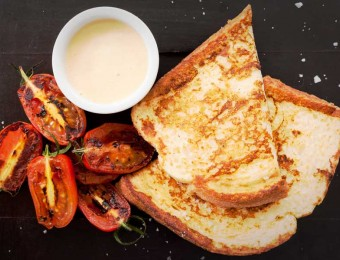 French Toast with Hollandaise Sauce