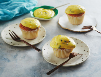 Passionfruit and Coconut Sponge Cupcakes