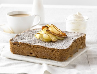 Pear and Ginger Coffee Cake recipe