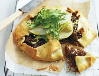 Caramelized Onion and Pear Tart Recipe