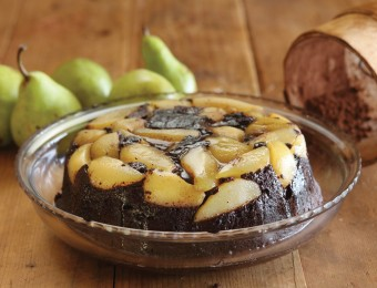 Chocolate and Fresh Pear Pudding