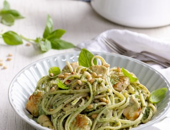 Chicken Pesto and Ricotta Linguine