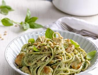 Chicken Pesto and Ricotta Linguine