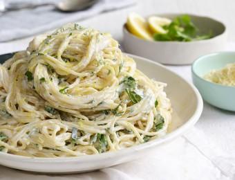 Lemon and Herb Ricotta Spaghetti