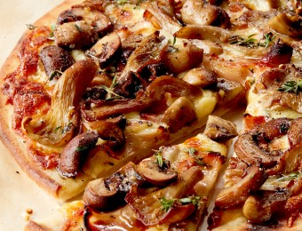 Mixed Mushrooms and Pancetta Pizza