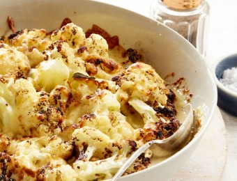 Roasted Cauliflower, Sage and Garlic Gratin