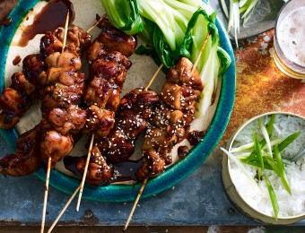 Chicken Pinoy Skewers with Rice