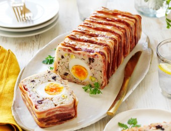 Chicken and pork terrine recipe with egg centre