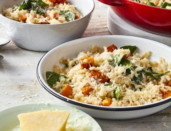 Baked pumpkin risotto recipe