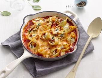 Baked pumpkin, Spinach and Ricotta Pasta Bake Recipe