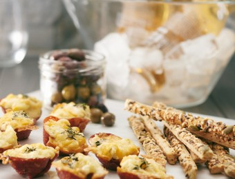 Crunchy Potato Salami Cups