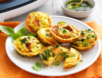 If you're looking for easy pie maker recipes to make in your Kmart Pie Maker, this pie maker salmon, pea and pesto pies recipe is perfect. These make great make-ahead appetisers or finger food.
