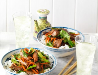 Soy Beef, Bok Choy and Asparagus Stir-Fry