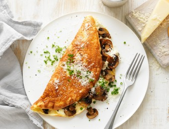 Mushroom Soufflé Omelette Recipe