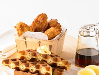 Southern Fried Chicken with Maple Syrup Waffle