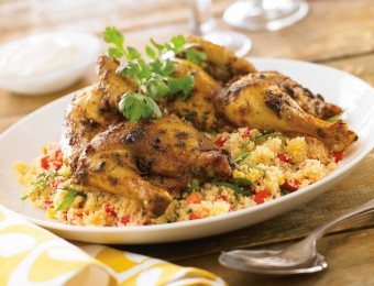 Spiced Spatchcock with Citrus Couscous