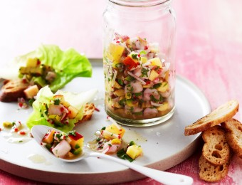 White Fish and Nectarine Ceviche