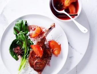 Spiced-Pork Cutlets With Blood Plum Sauce