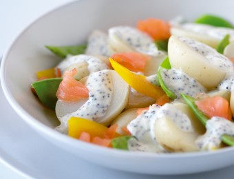 Salmon and Potato Salad with Lemon Poppy Seed Dressing