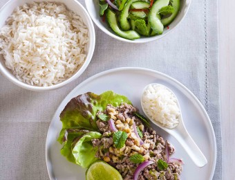 Turkey Larb with Fresh Asian Salad Recipe