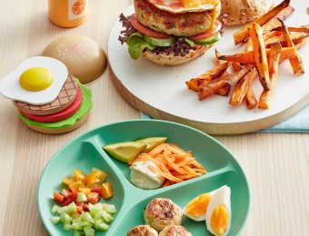 Turkey burger recipe with sweet potato chips