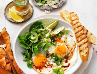 Turkish eggs with whipped yogurt