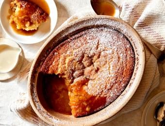 caramel self saucing pudding cake recipe