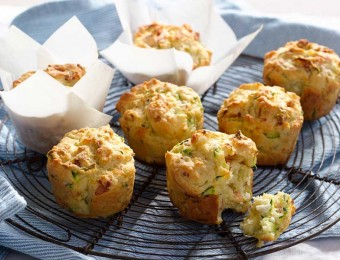 Bacon, Fetta & Zucchini Muffin Recipe