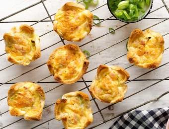 Ham and Cheese Mini Quiche recipe